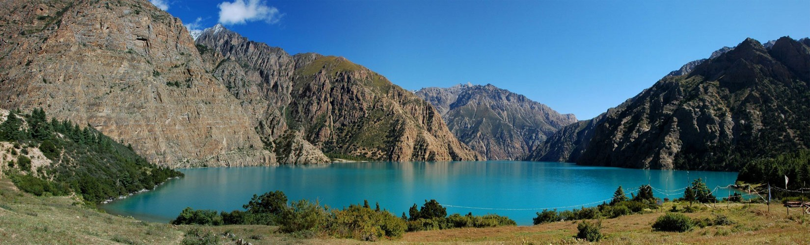lower dolpa trek-Phoksundo lake alpine fresh blue crystal water