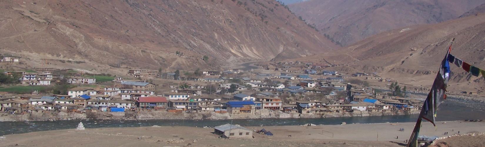 Dunai bazaar Upper Dolpo Trek in Nepal