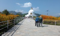 walking towards world Peace pagoda