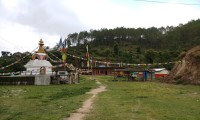 Peace Stupa on the way to Namo Buddha