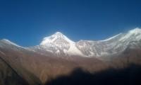 Mt: Dhaulagiri on the way to Kalapani