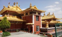 Golden painted Roof of Namo Buddha Temple