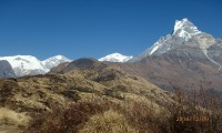 Complete view of Mt: Fishtail