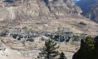Manang Village from Gangapurna hill