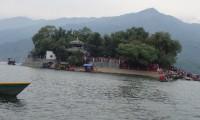 Phewa lake in lakeside